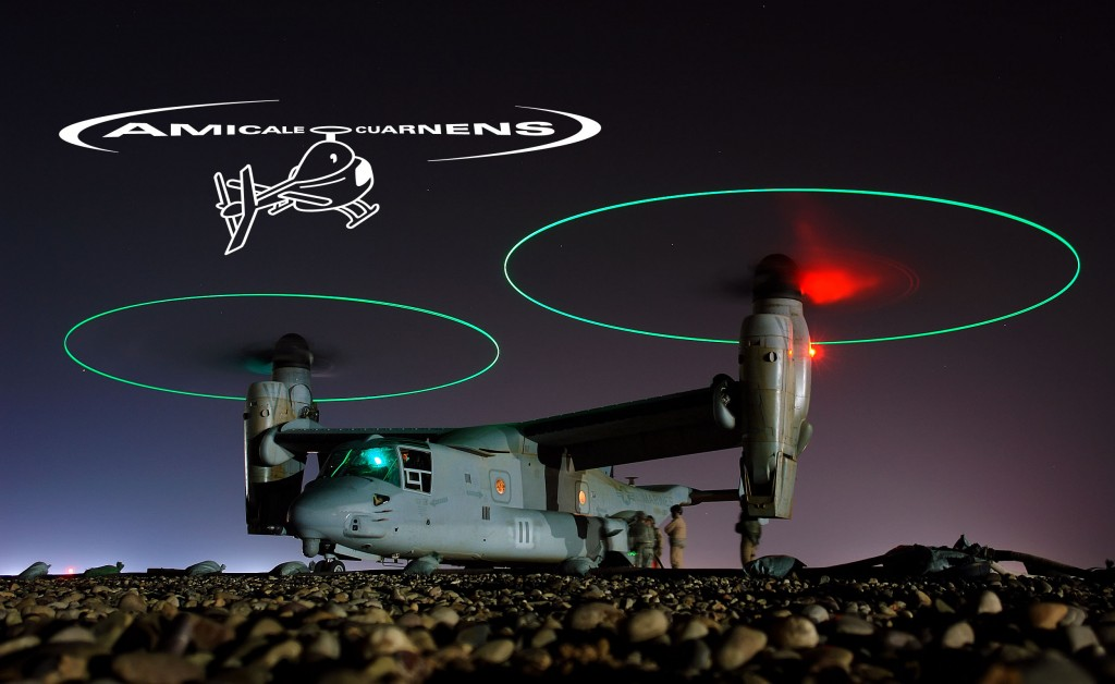 080202-N-9643K-008 CENTRAL IRAQ (Feb. 2, 2008) A V-22 Osprey is refueled before a night mission in central Iraq. U.S. Navy photo by Chief Mass Communication Specialist Joe Kane (Released)